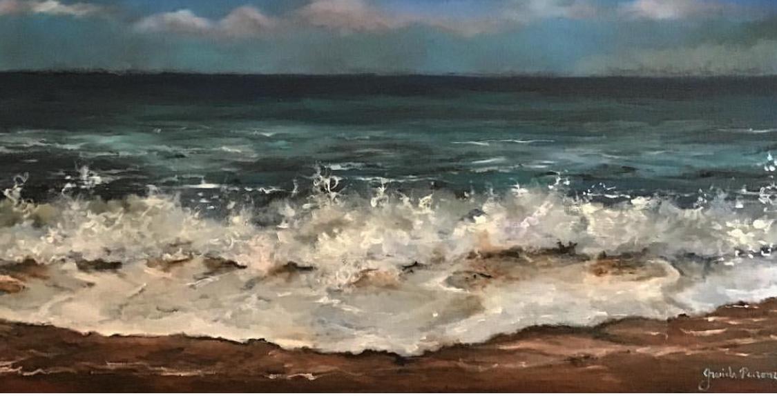 Mar IV   Original oil on canvas 16'x16'