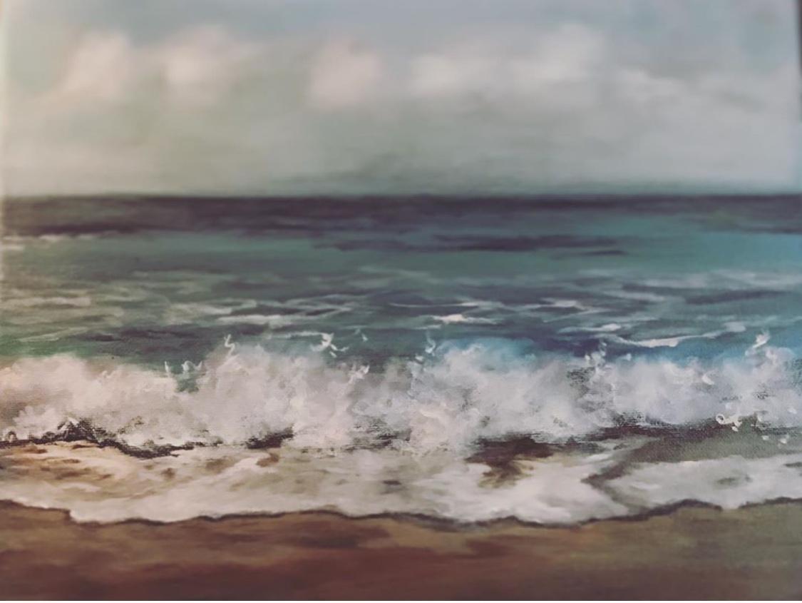 Mar I   Original oil on canvas 16'x16'