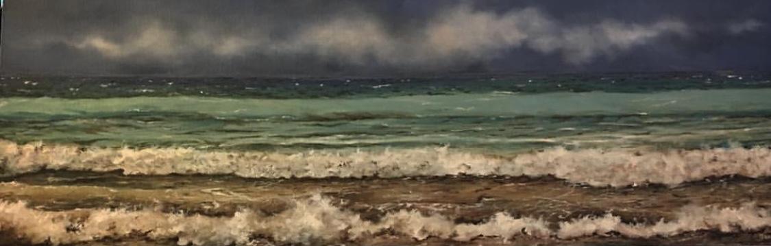 Mar VI  Original oil on canvas 16'x16'