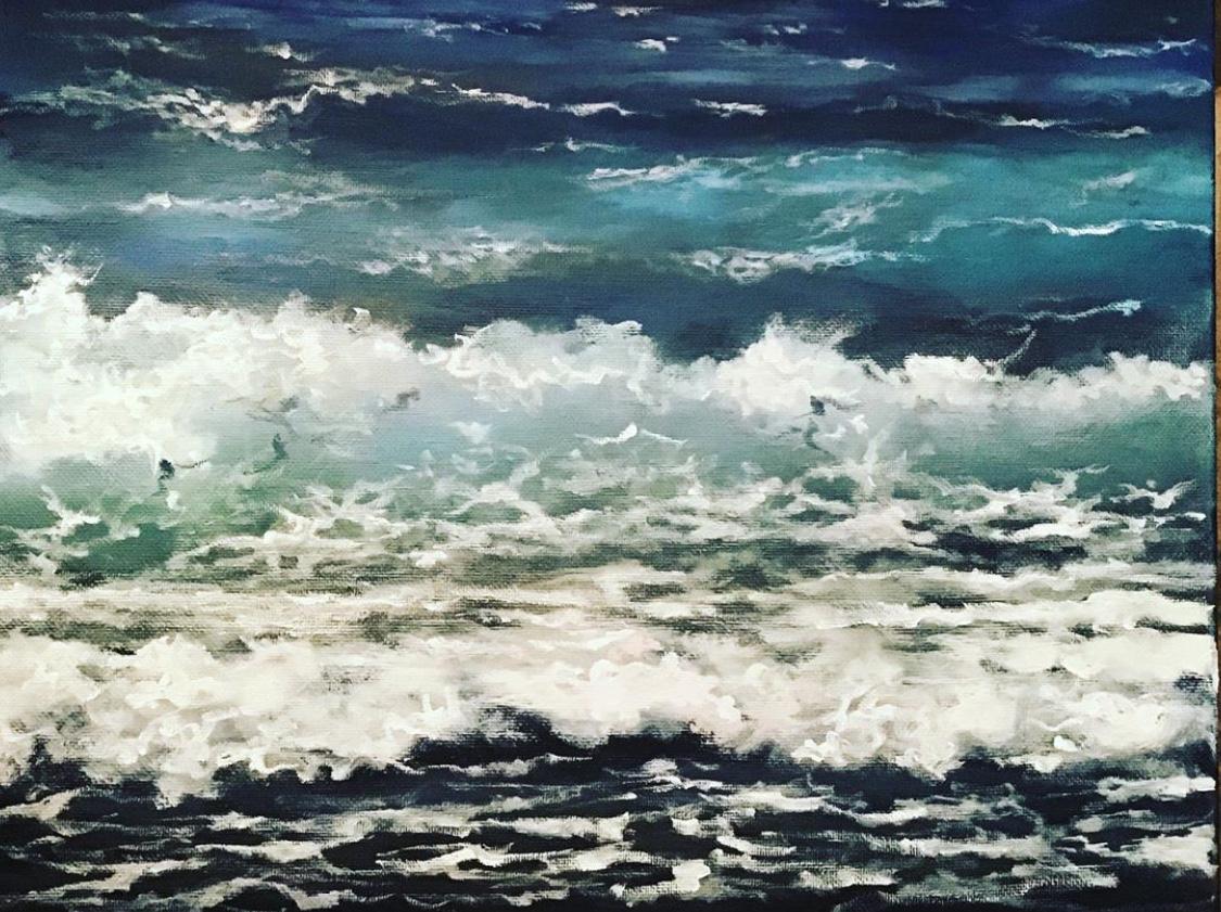 Mar VII  Original oil on canvas 16'x16'