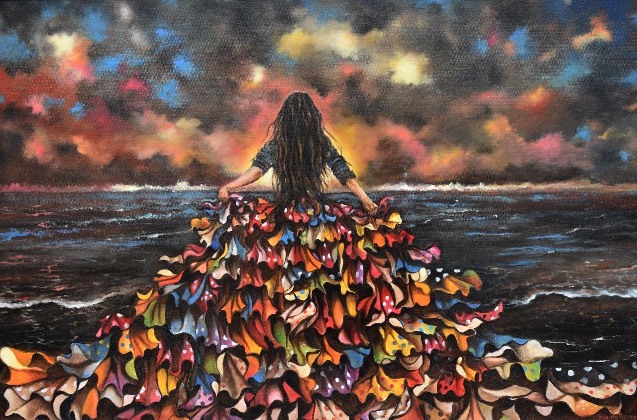 Nubes de Colores   Original oil on canvas 24'x36'