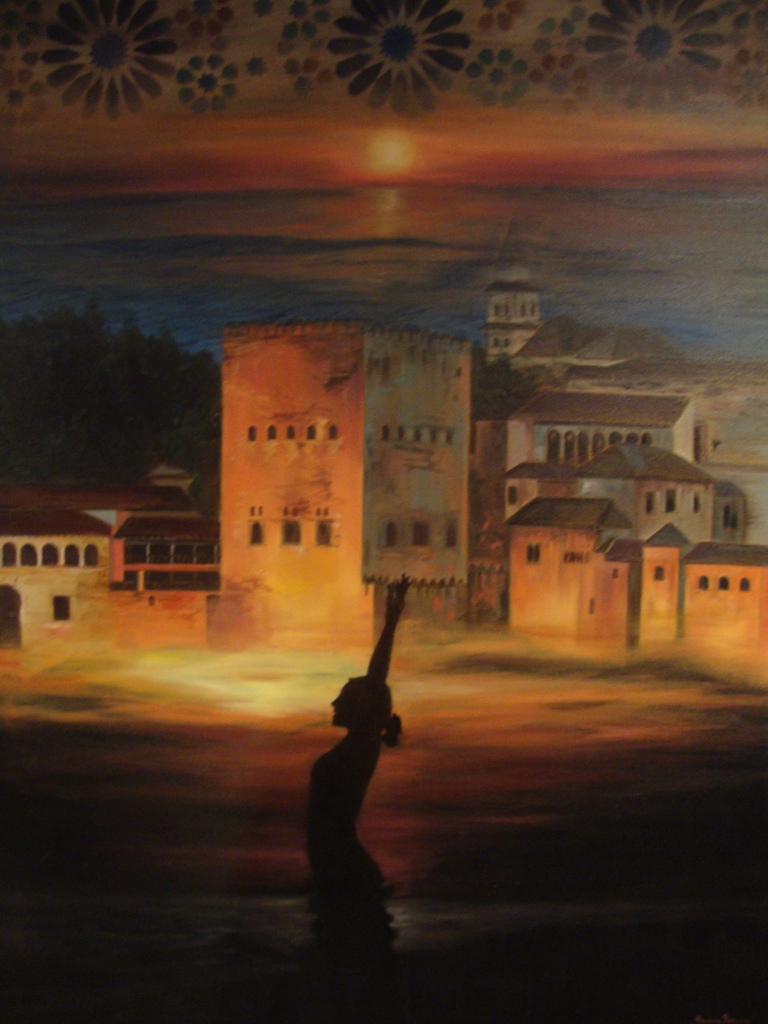 Dreaming of the Alhambra   Original oil on canvas 36'x48'