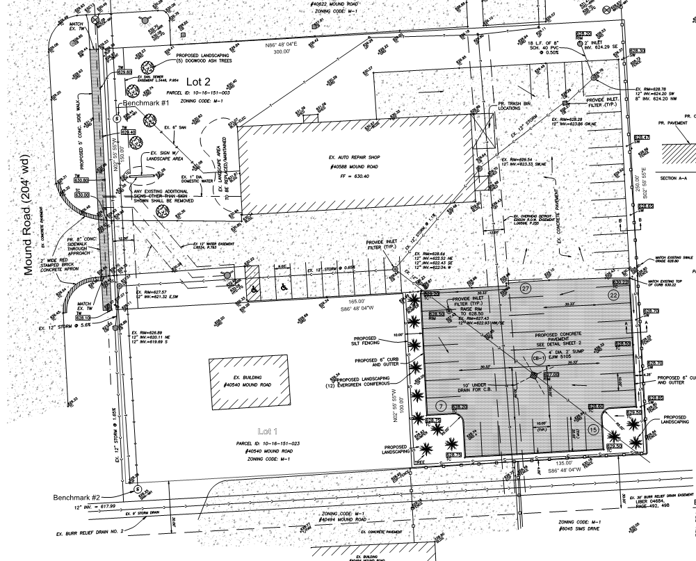 Proposed Site Plan of Lot Improvement