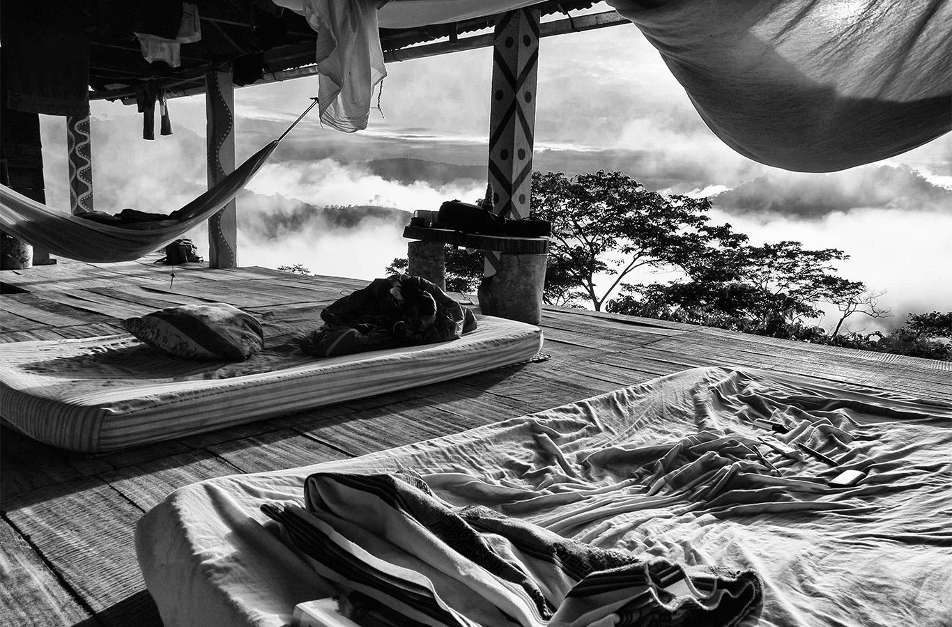The sun rises over Enamórate in the Selva Central, or central jungle region, of Peru