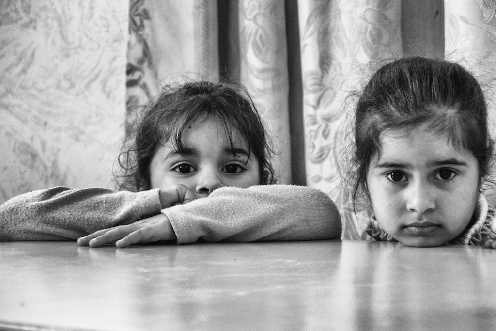 Young girls at Askar Refugee Camp
