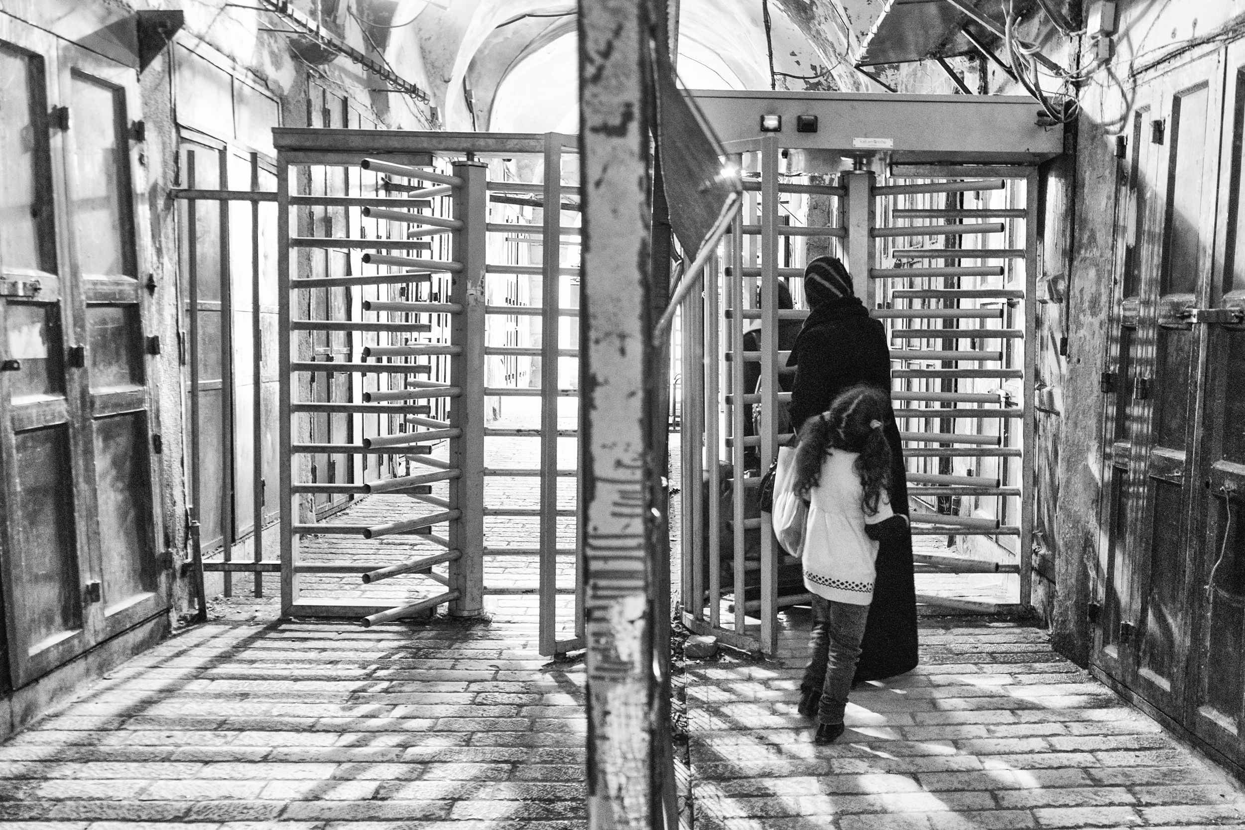 A checkpoint for Palestinians in Hebron