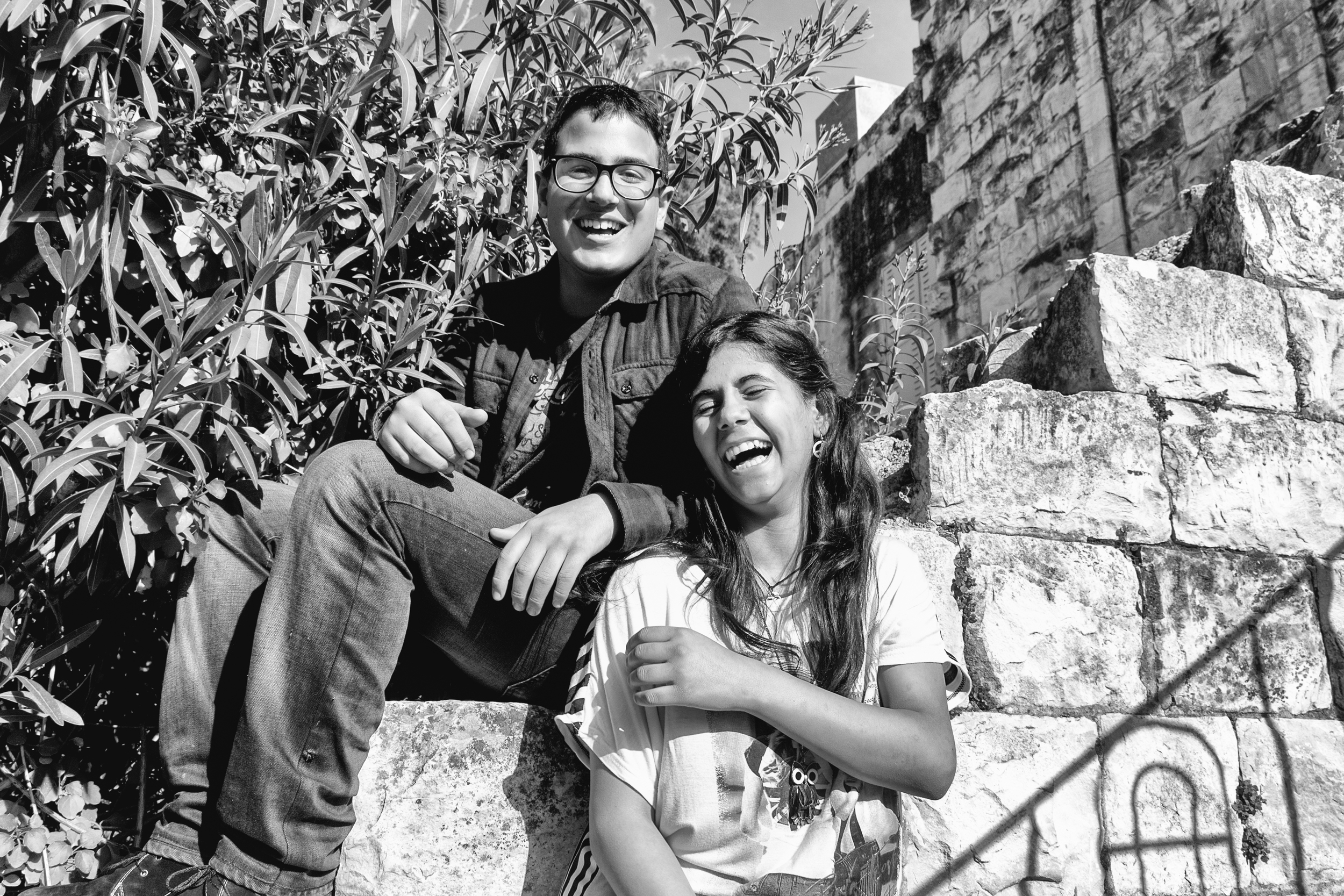 Music students, Ahmed and Zolfa, in Nablus
