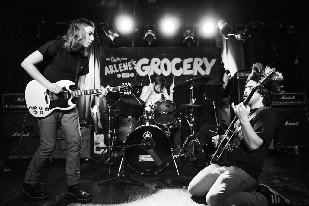 Slush performs at Arlene's Grocery on the Lower East side of Manhattan