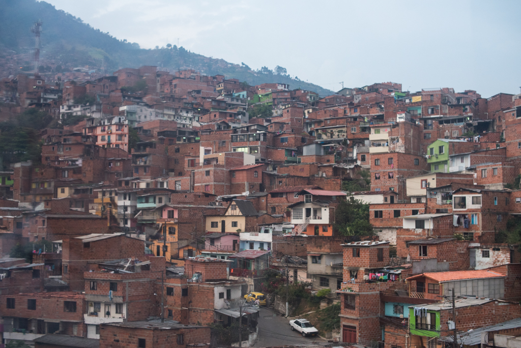 A neighborhood in Bello, a town of 359,000 people to the north of Medellín where Angie, Alejandra and Dominica live.