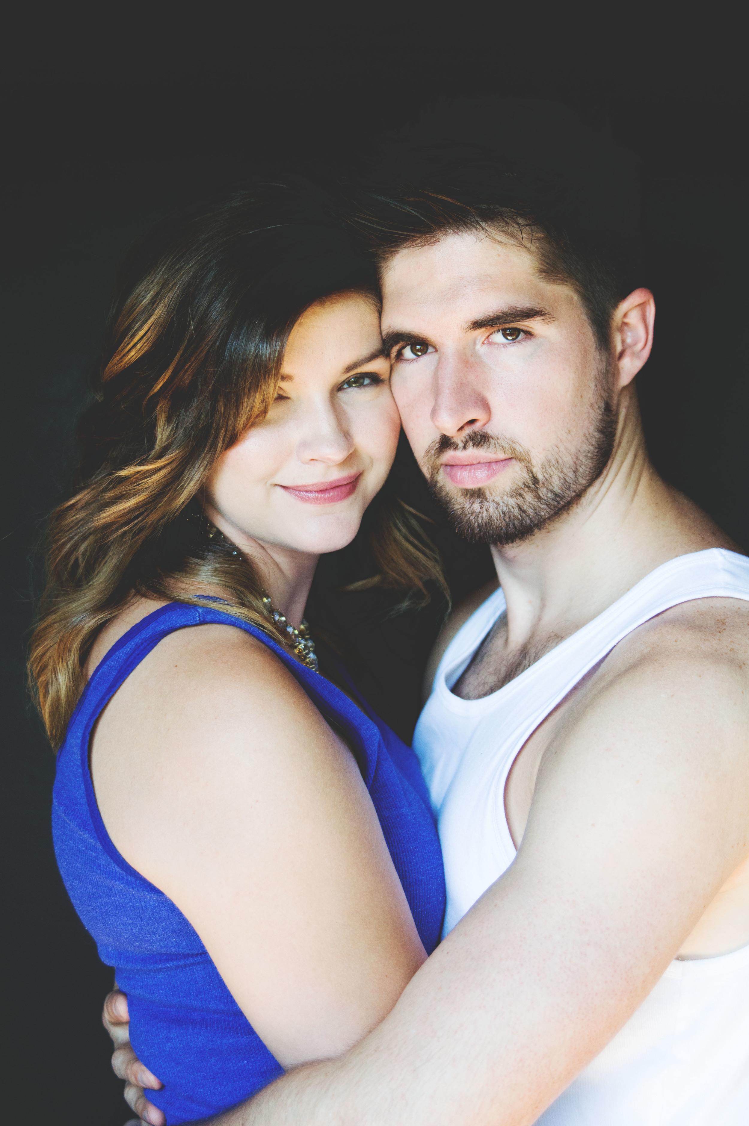Studio Couple Portrait Engagement Photography