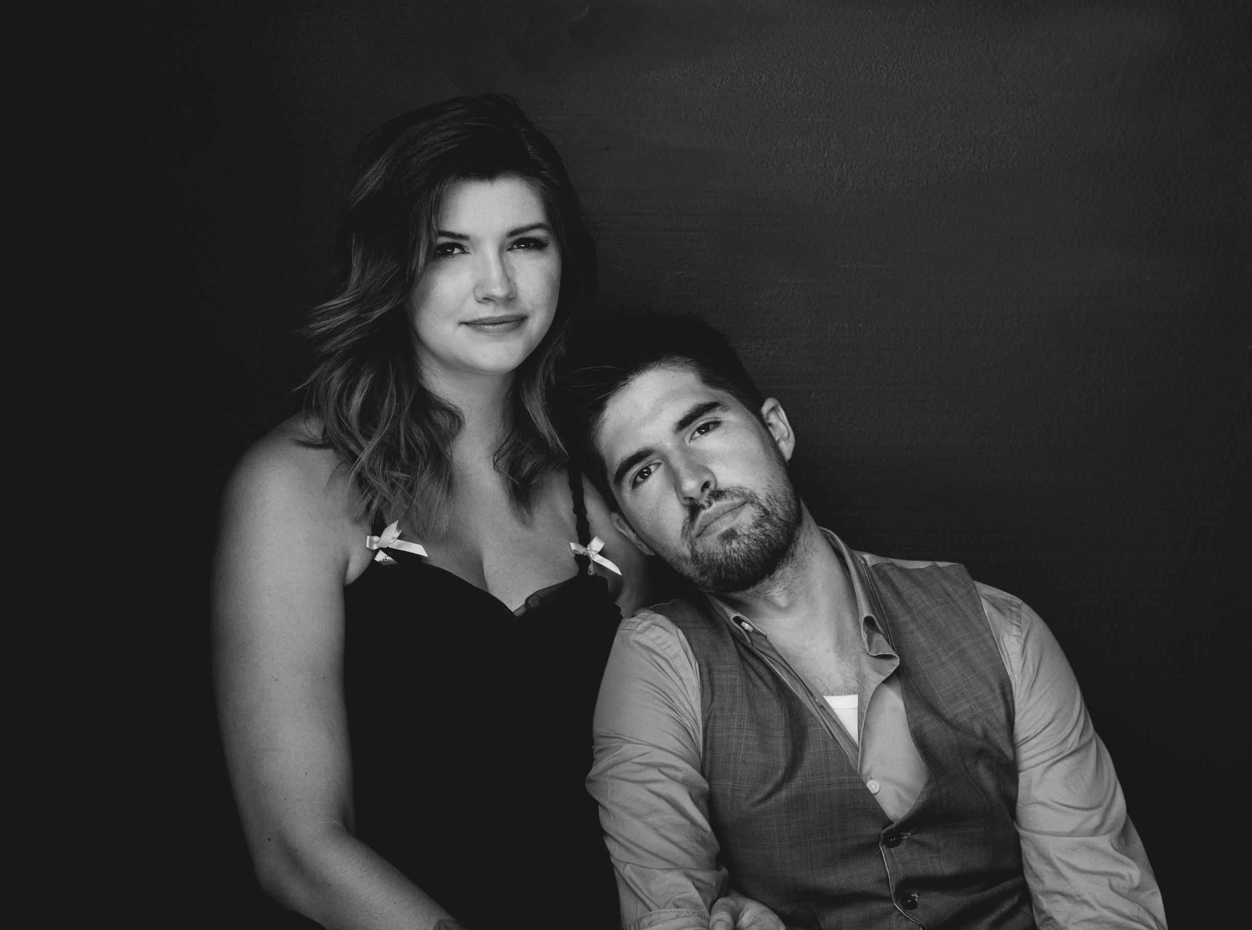 Studio Portrait Glamour Couple Engagement Photography Los Angeles
