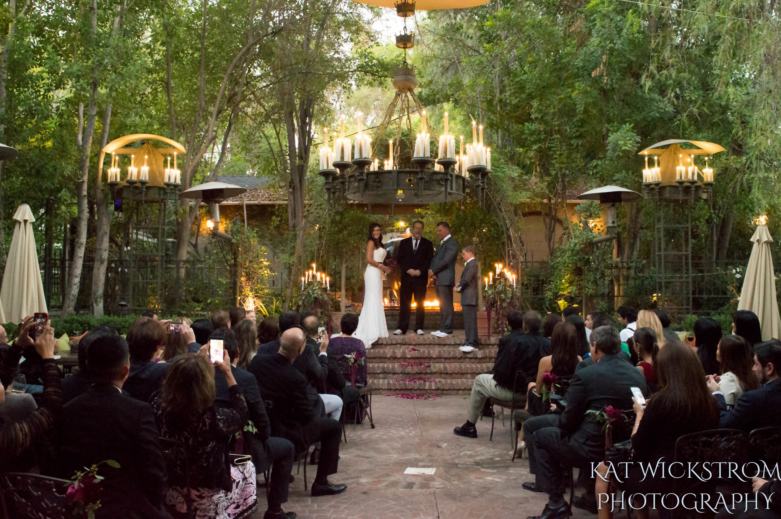 Woodland Hills Villa Restaurant Wedding Ceremony Photograpy