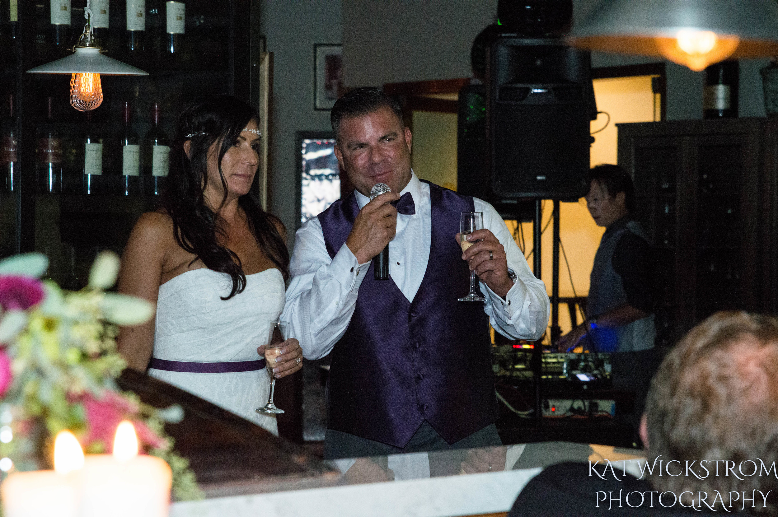 Woodland Hills Cafe Fiore Wedding Reception Toast