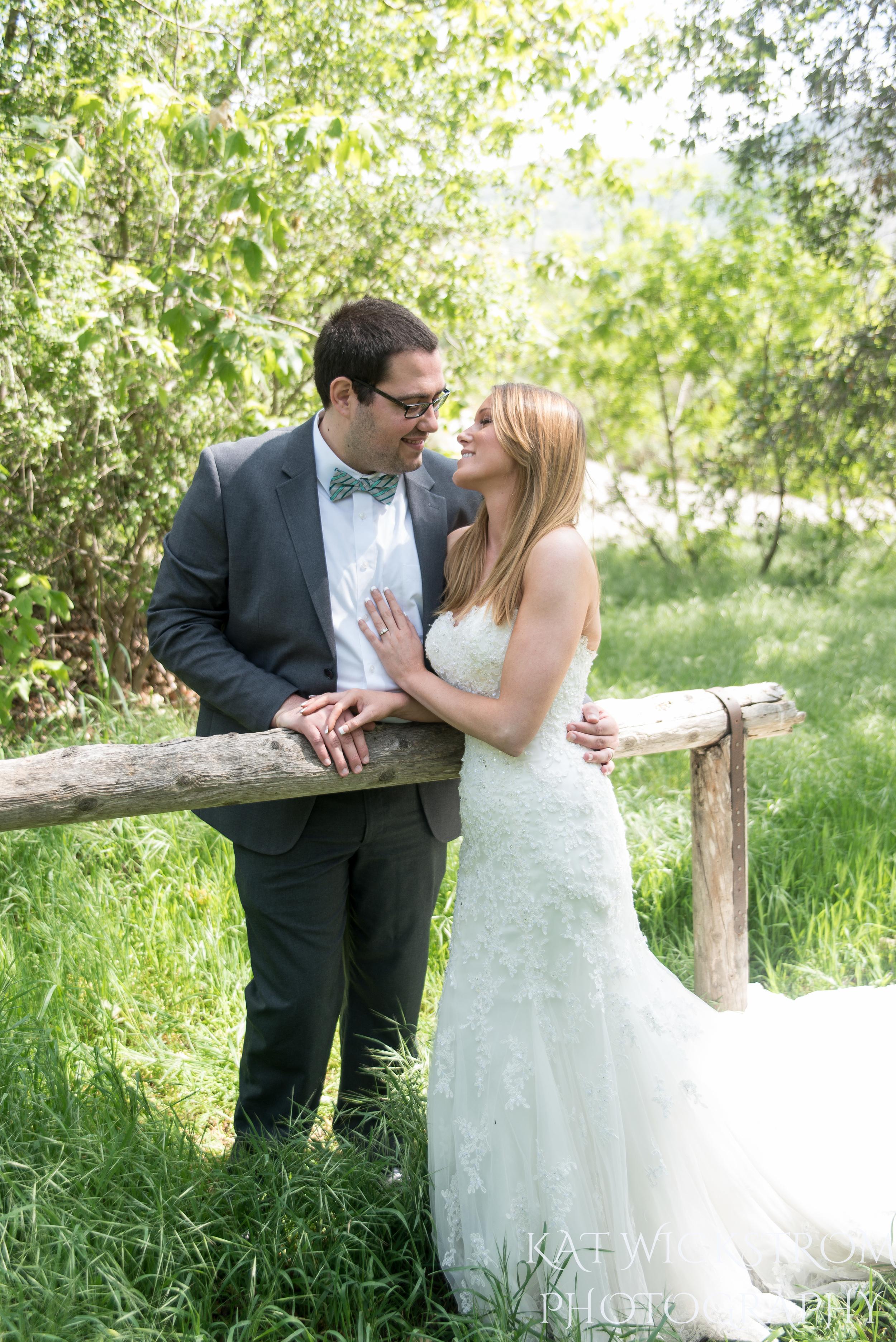 Rustic Solstice Canyon Malibu Wedding Bride and Groom