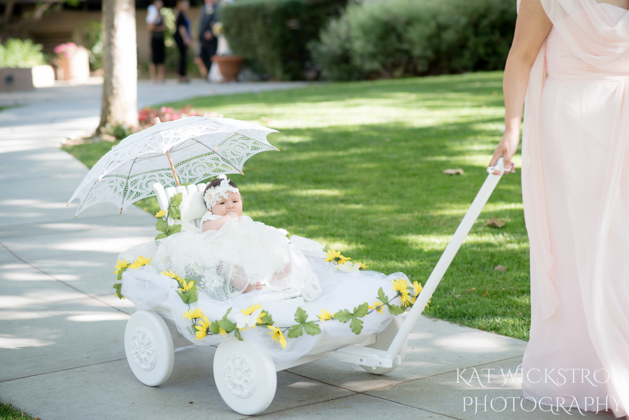 UCI Wedding Flower Girl Ceremony Photo