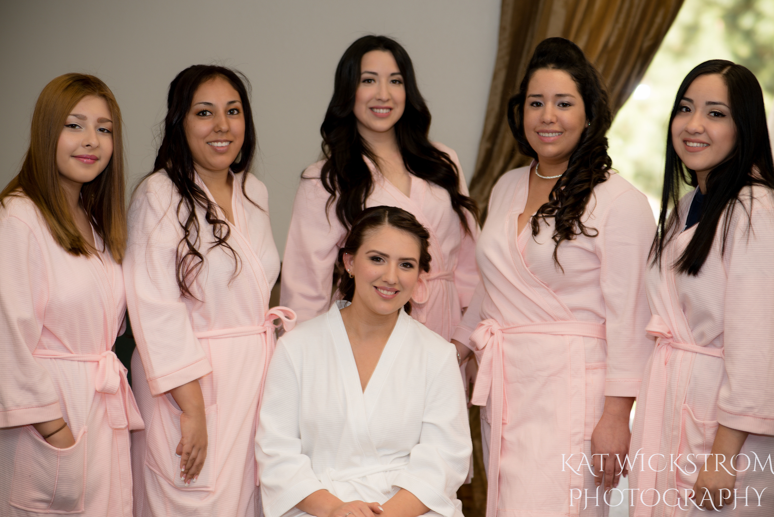 UCI Wedding Bride and Bridesmaids Getting Ready