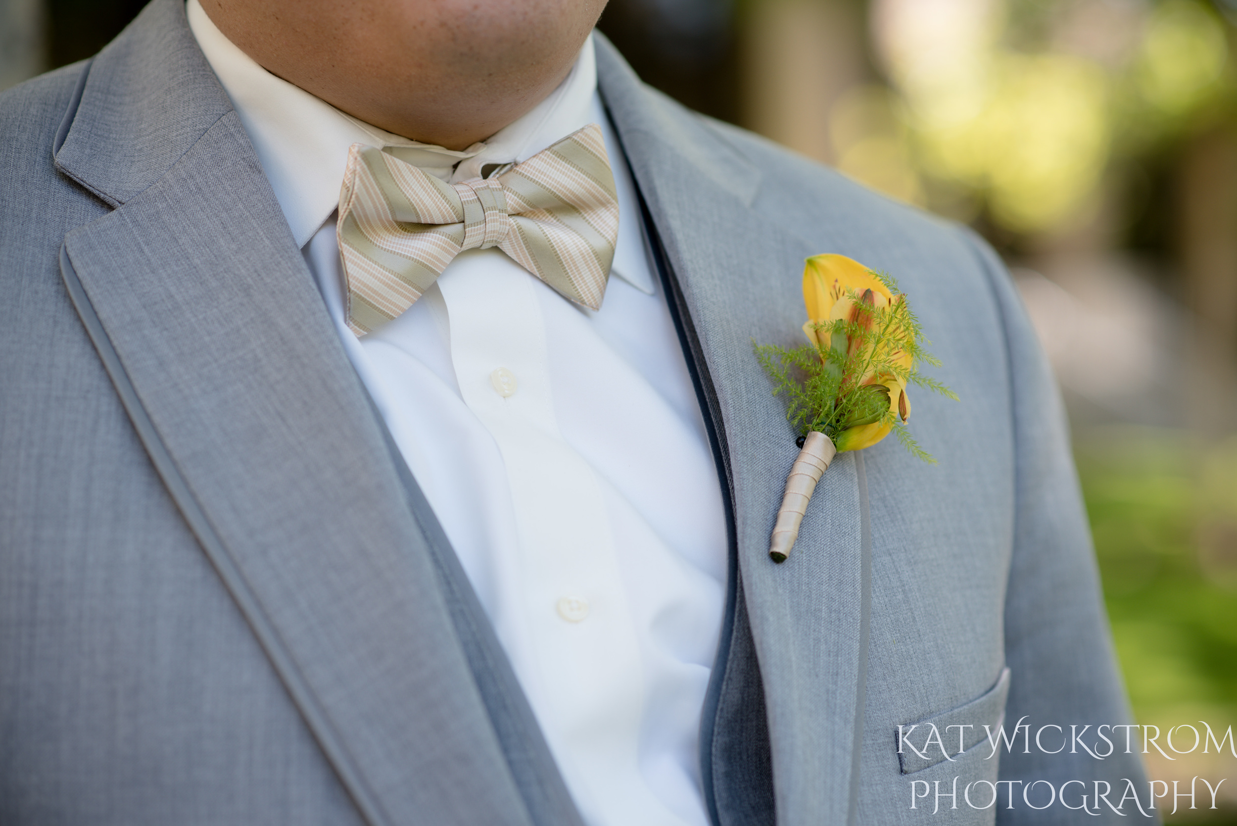 UCI Wedding Groom Flower