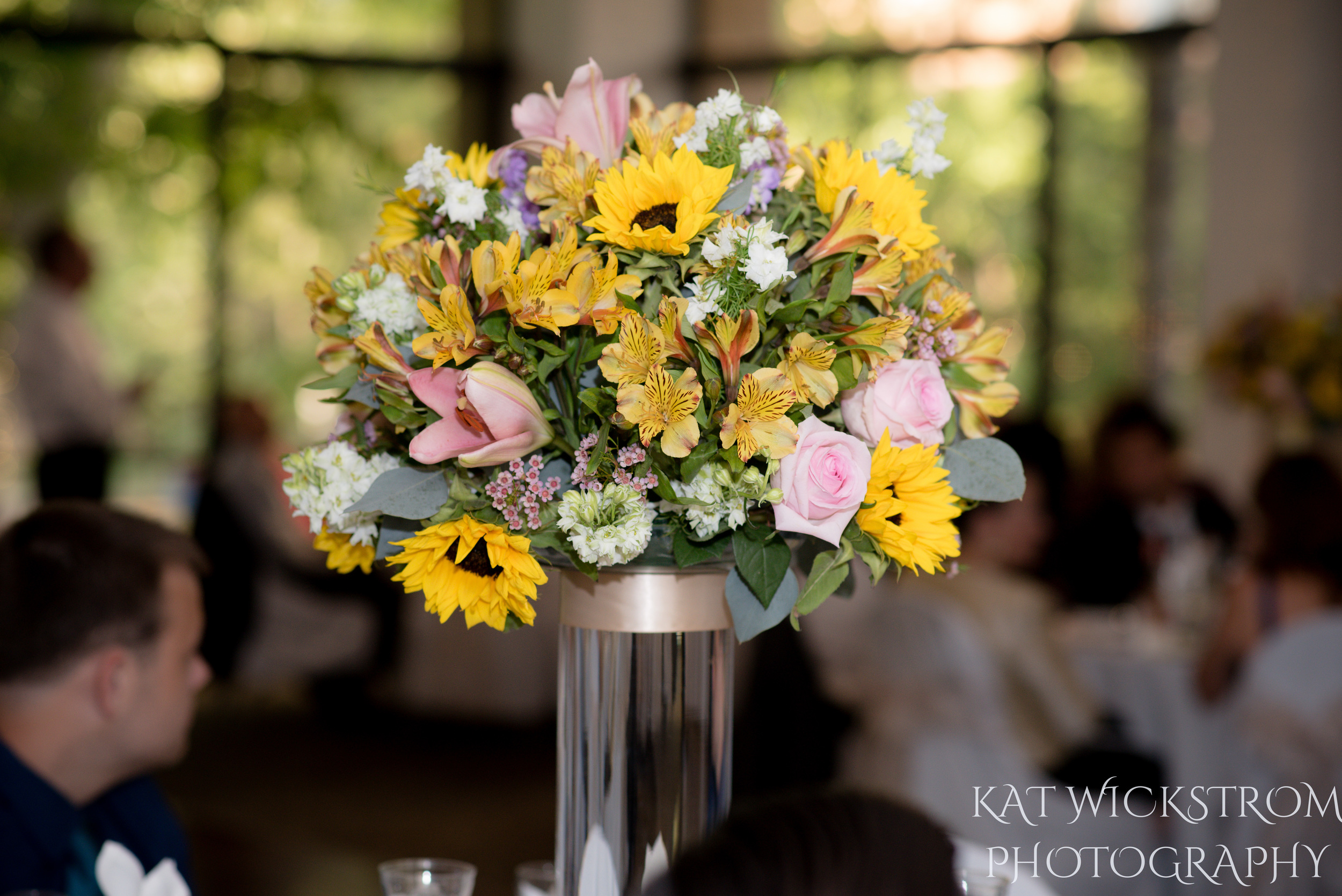 UCI Wedding Reception Flower Centerpiece