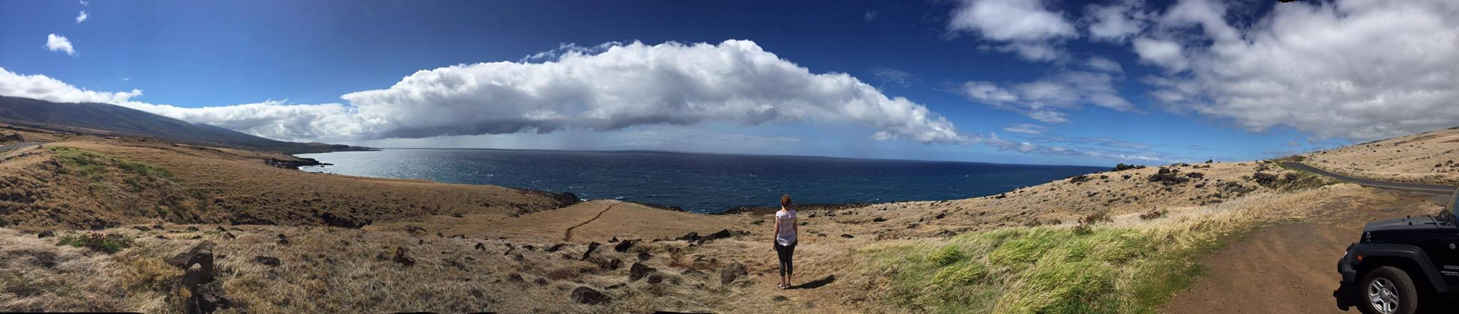 On the desert side of the island. Brown grasses and beautiful vistas. Good by Maui! See you again soon!