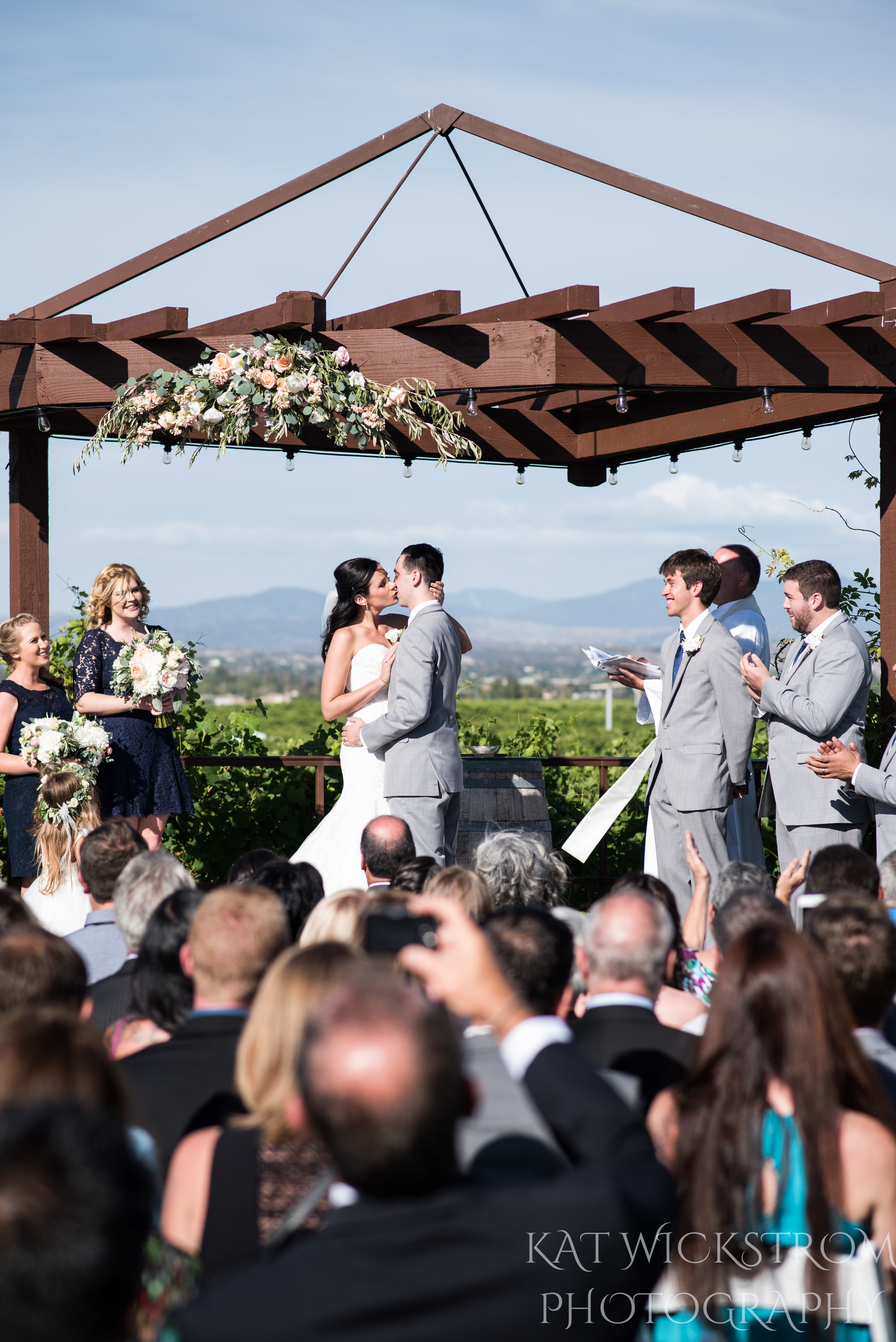 ceremony pergola in winery