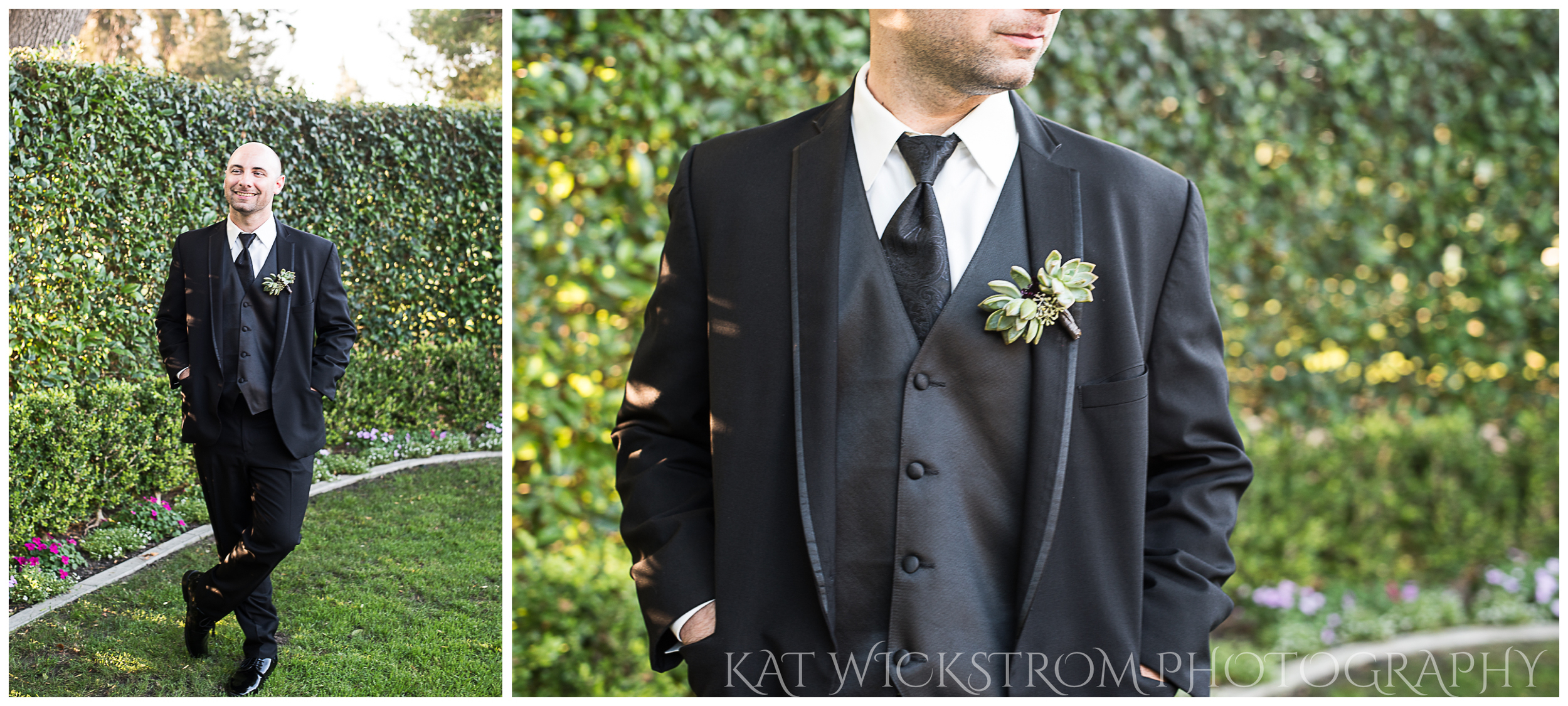And how dapper does Mick look?! The groom wore a succulent boutonniere and rocked it.