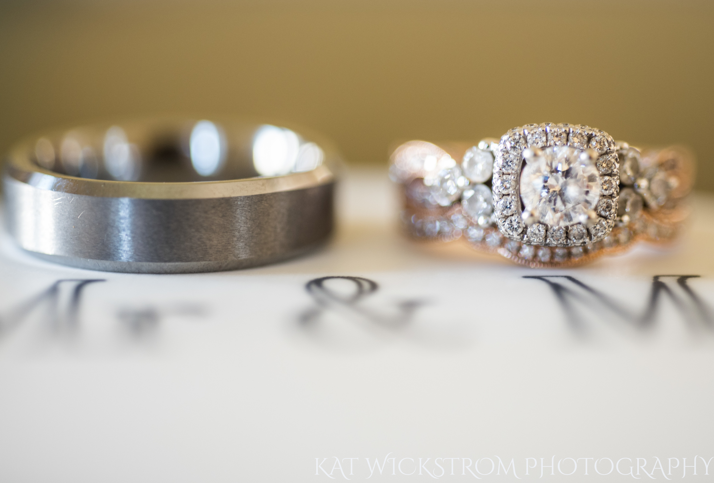 How adorable are these rings, seated stately upon their custom ring box.