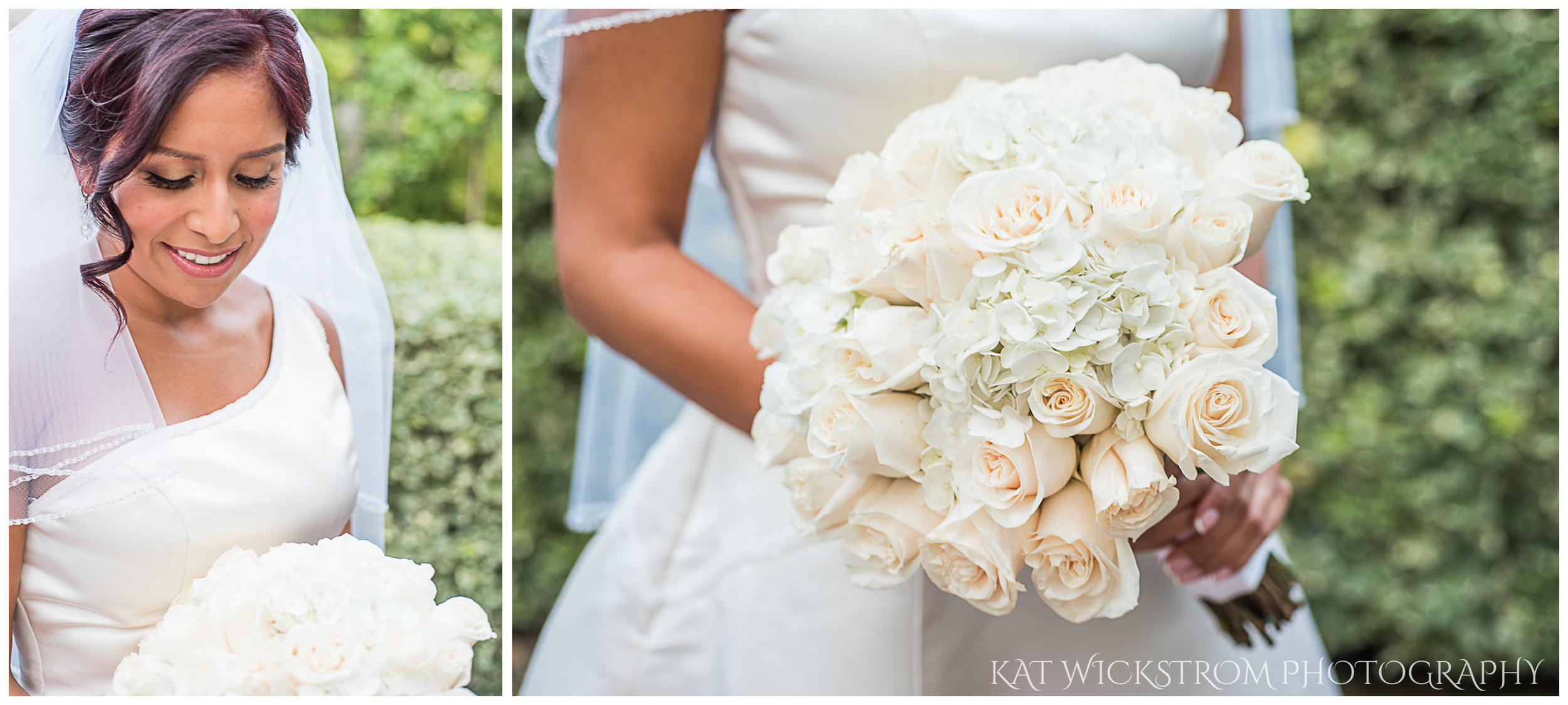 The bride was absolutely gorgeous and her bouquet was simple yet elegant.