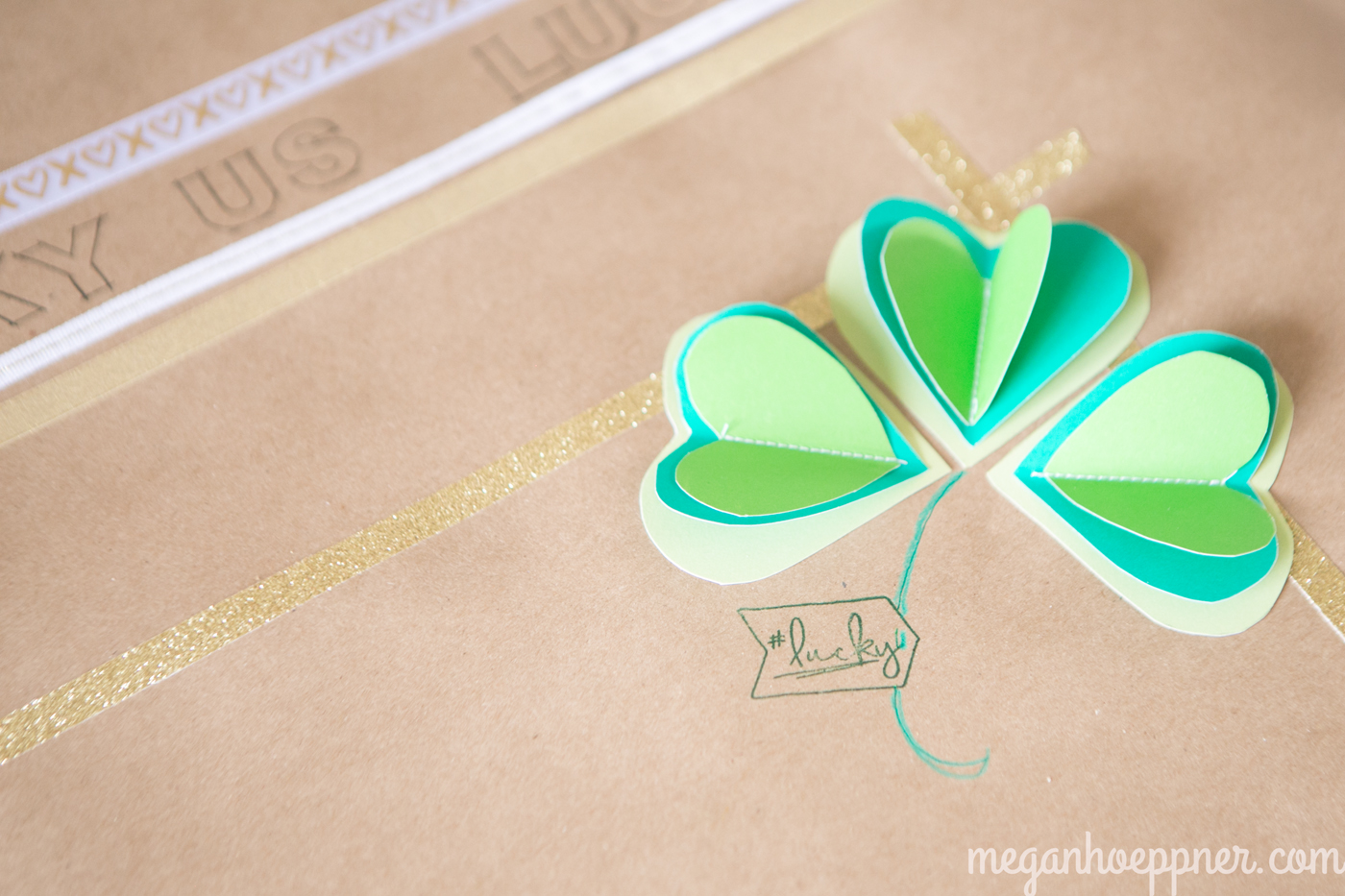 I used the Some Kinda Wonderful stamp set from Close To My Heart to create the #lucky tag.