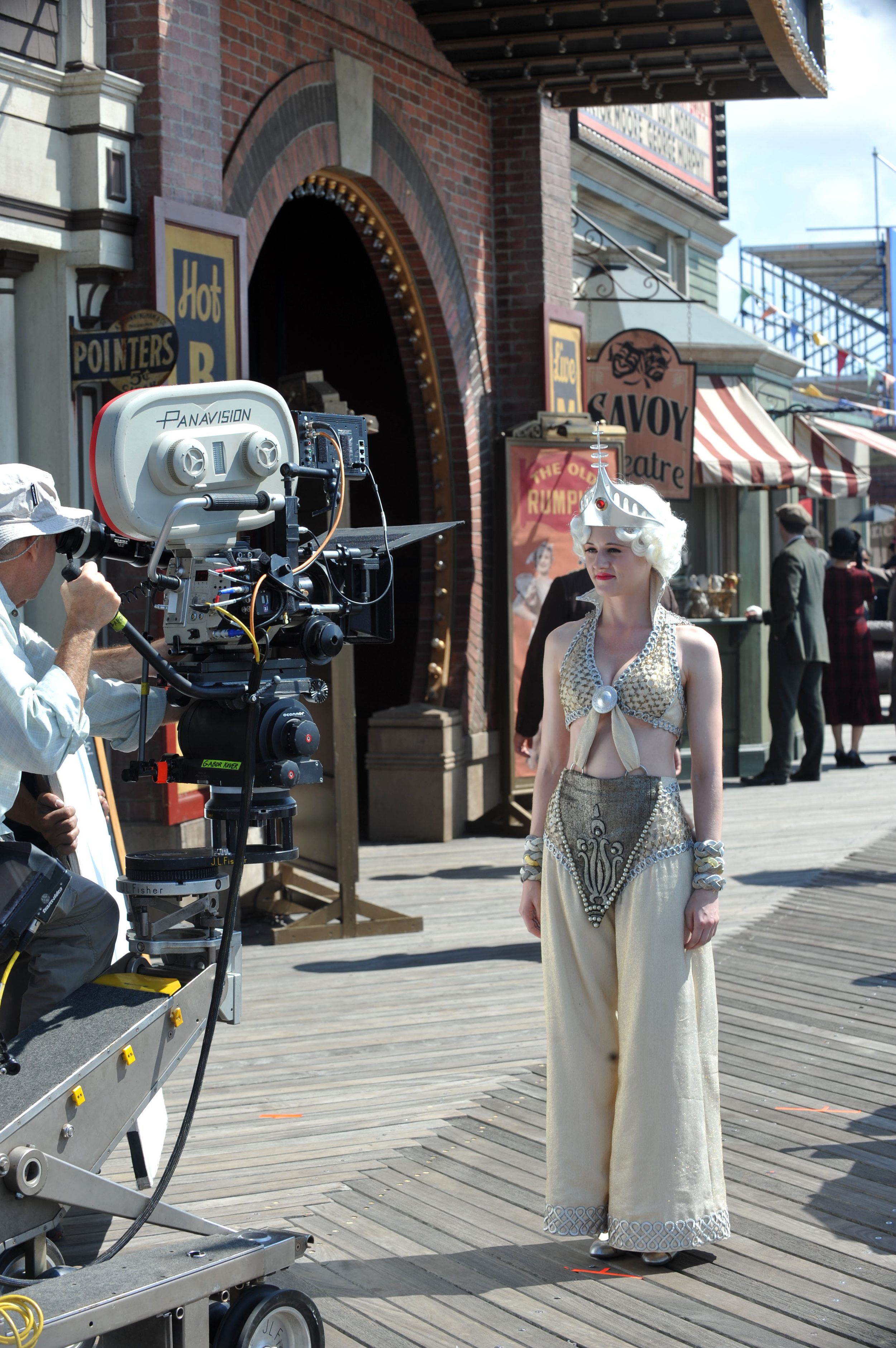 On set for the final episode of HBO's Boardwalk Empire . Photo taken by Steve Sands, courtesy of Getty Images.