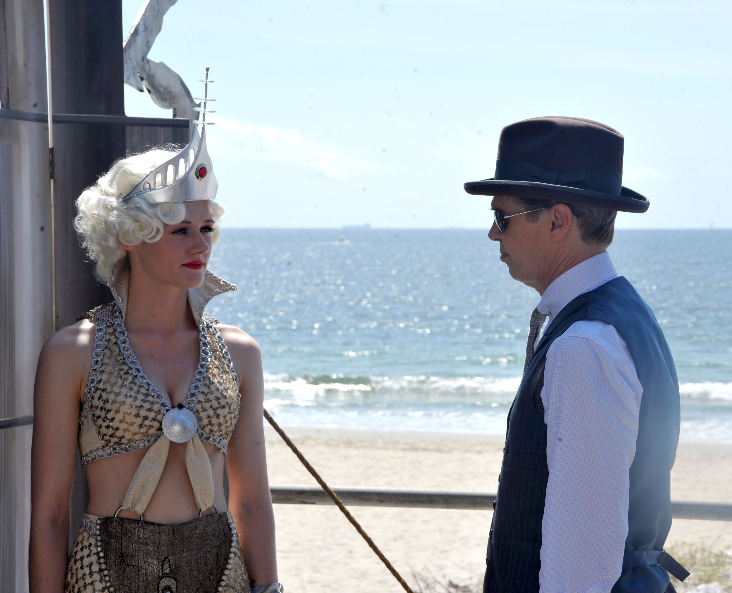 On set with Steve Buscemi for the final episode of HBO's  Boardwalk Empire . Photo taken by Steve Sands, courtesy of Getty Images.
