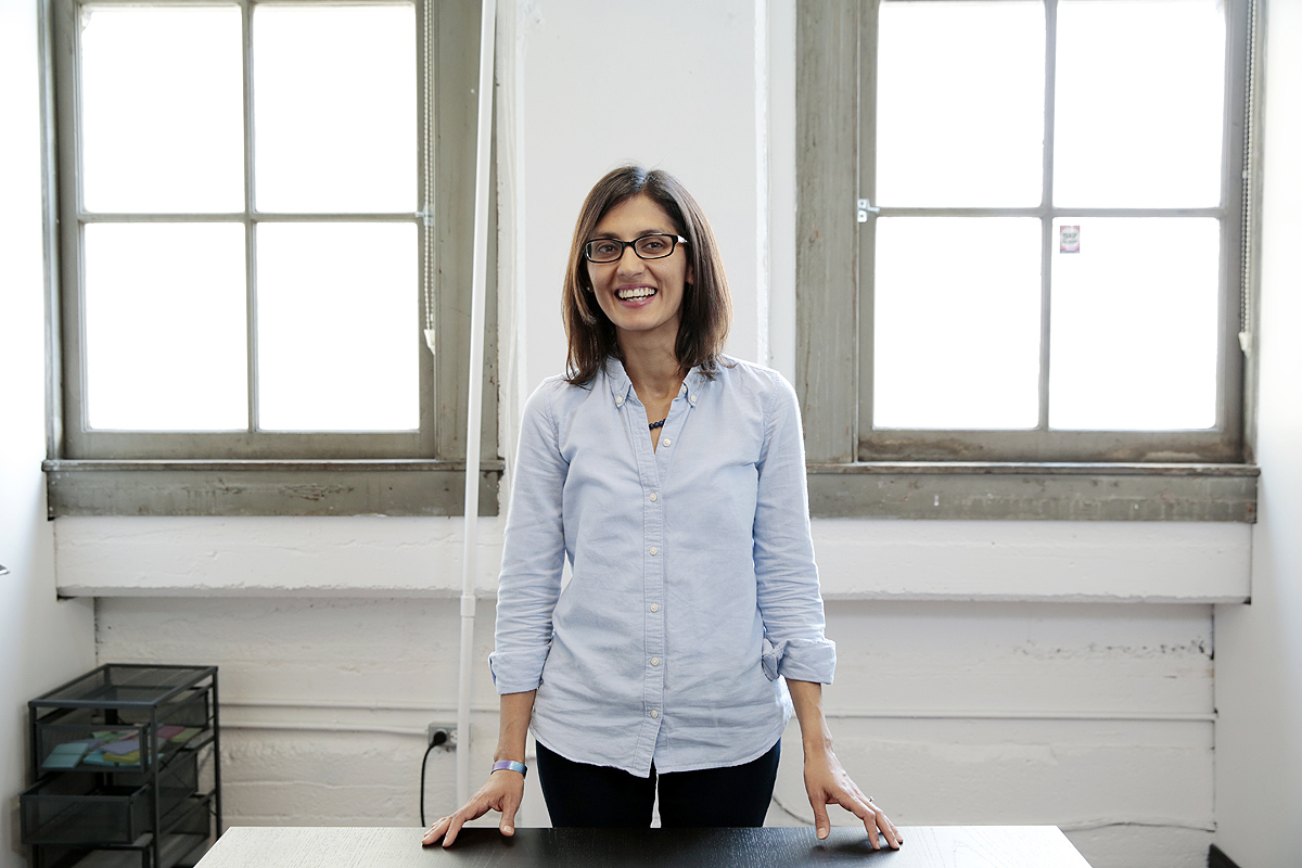 Data scientist Saba Zuberi poses for a portrait at the TaskRabbit offices in San Francisco. Read the article  here .