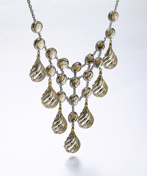 Swirl Bib Necklace