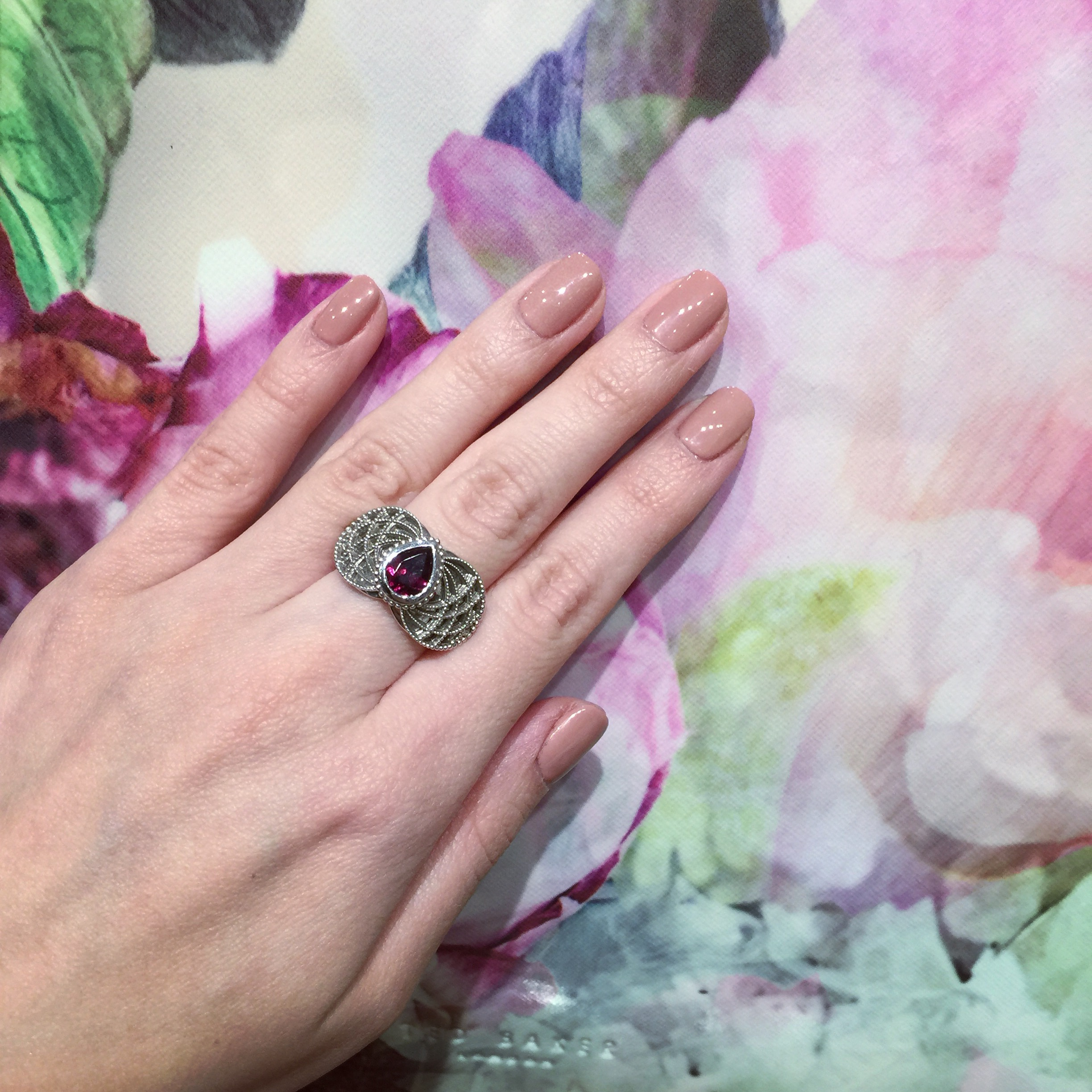 Trellis ring in full bloom   #floral  #fabulous     #fashion