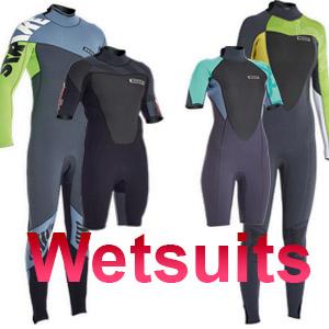 Kitesurf wetsuits and shorties