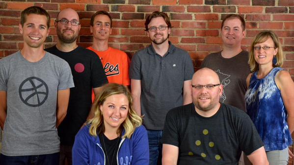 The Dribbble Team at Dribbble HQ, July 2015. Photo credit: Dan's Camera.