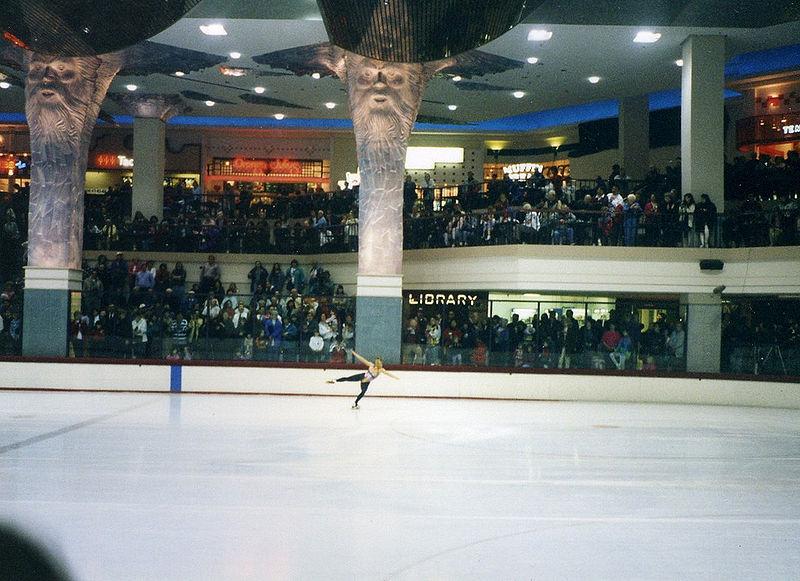 Tonya Harding Olympic practice at Clackamas Town Center 1994. Credit: Andrew Parodi.
