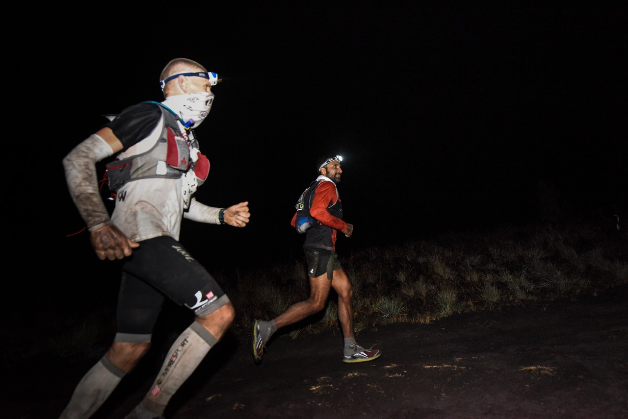 Ullas Narayana and Jan Nilsen were running in leading positions together until the Norwegian was forced to abandon the 100 miles race