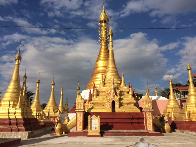 There's some stunning golden temples to visit in Myanmar and at the lake