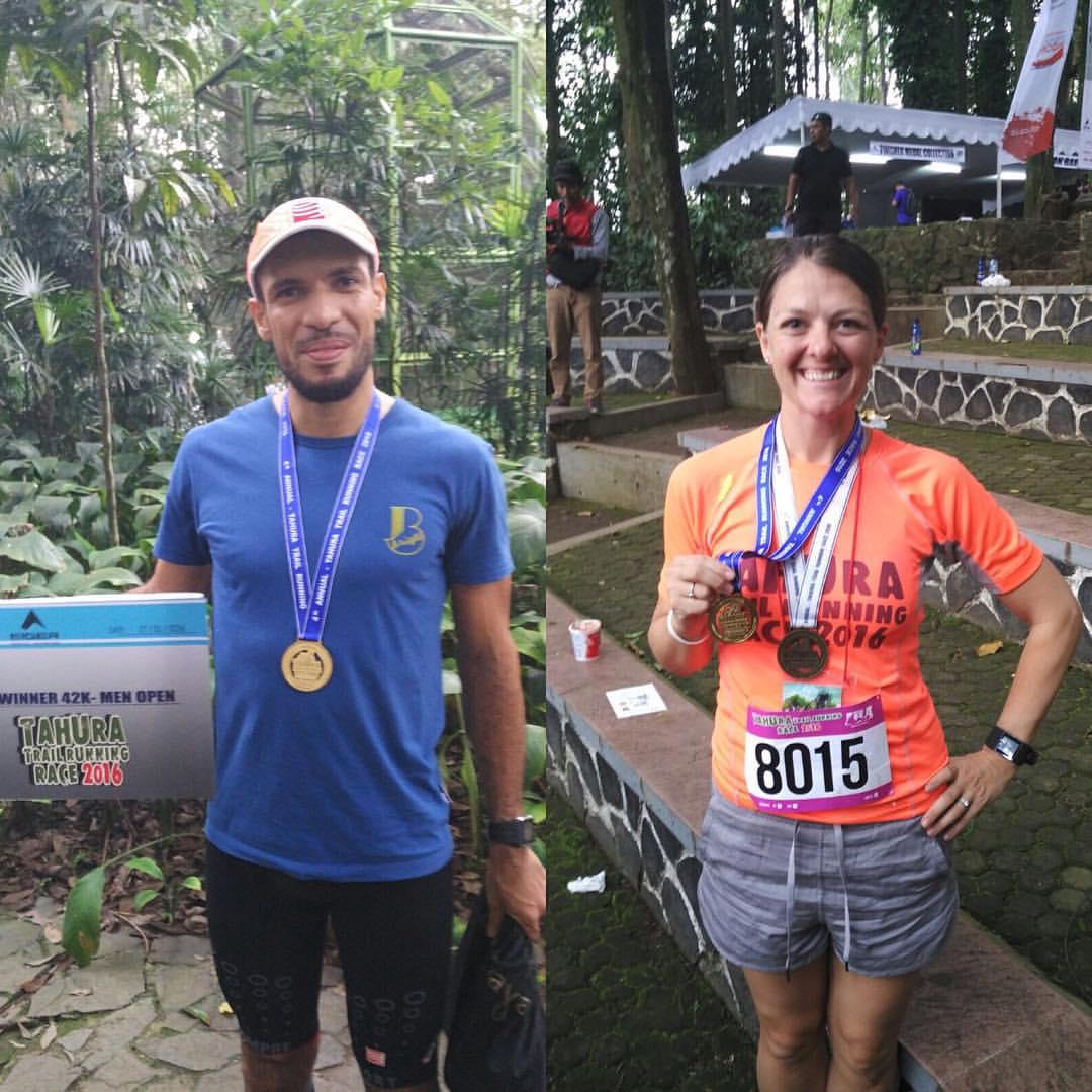 The champions of the 2016 Tahura Trail Marathon