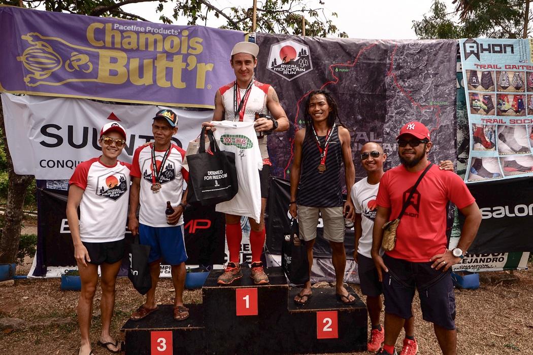 The men's 50k podium