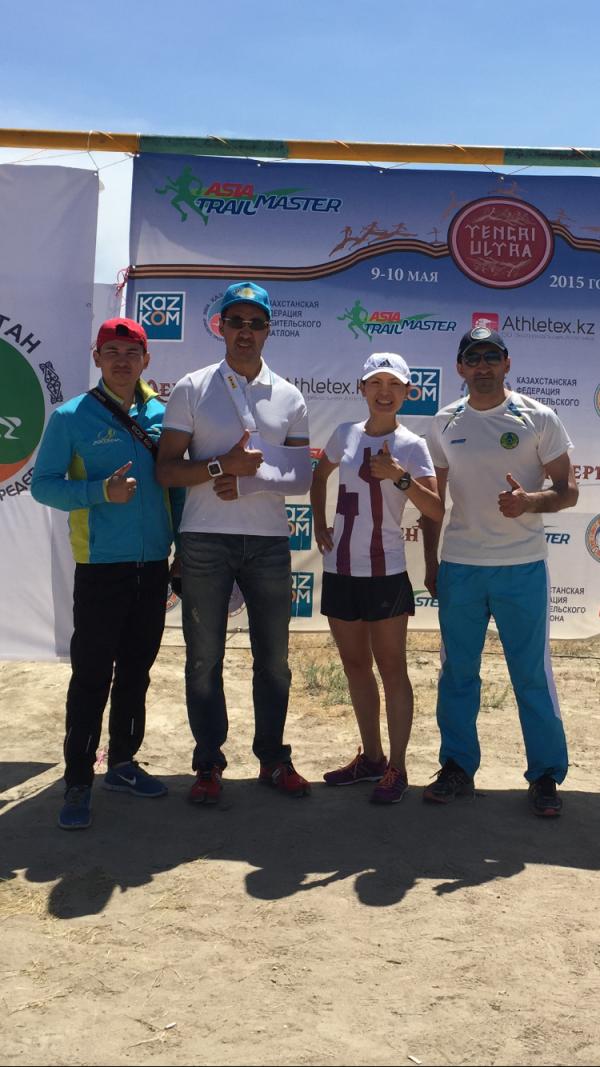 Akmaral won the women's Tengri Ultra Trail last year.