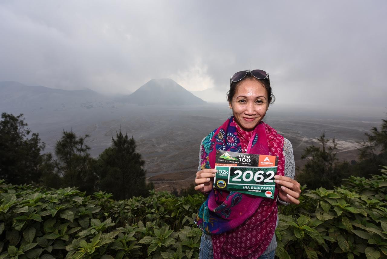 If Ina Budiyarni finishes the 100km race she is the first female Asia Trail Grandmaster