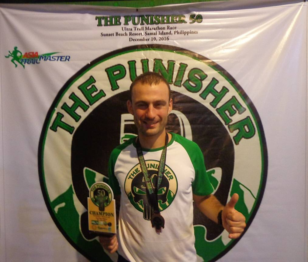 Race winner Vincent Durier from France