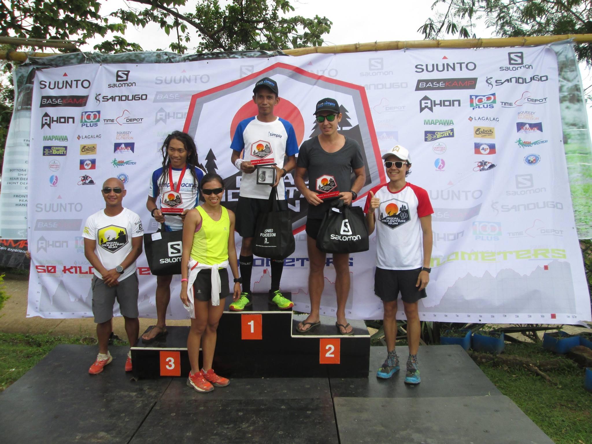 The men's podium.  Credit: D. Salongo dela Cruz