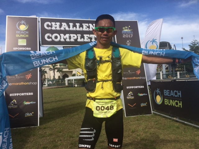 Local runner Chung Ming delivered a great performance with 3rd place on the 100k