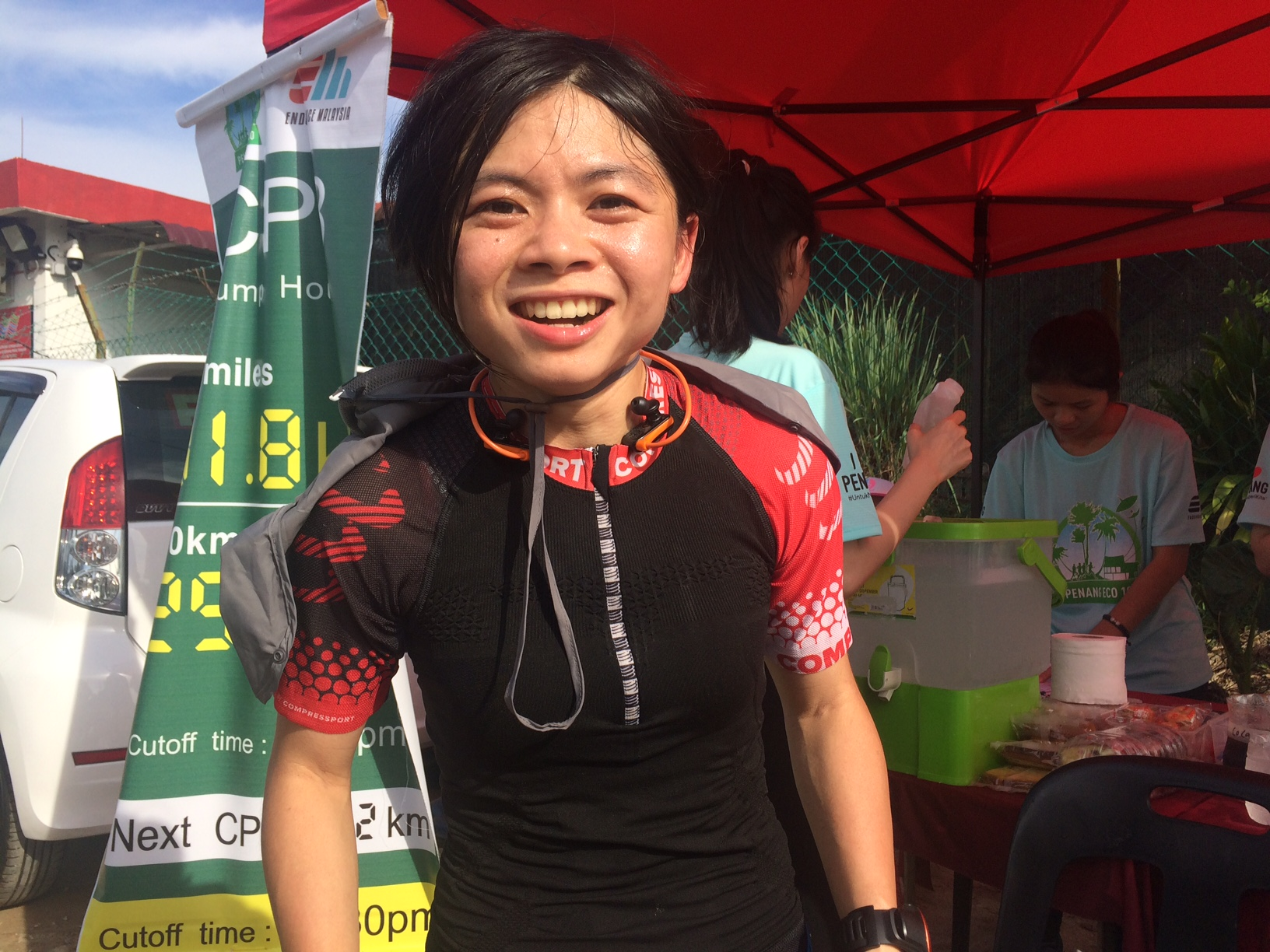 Christine Loh won the 100 miles for women!