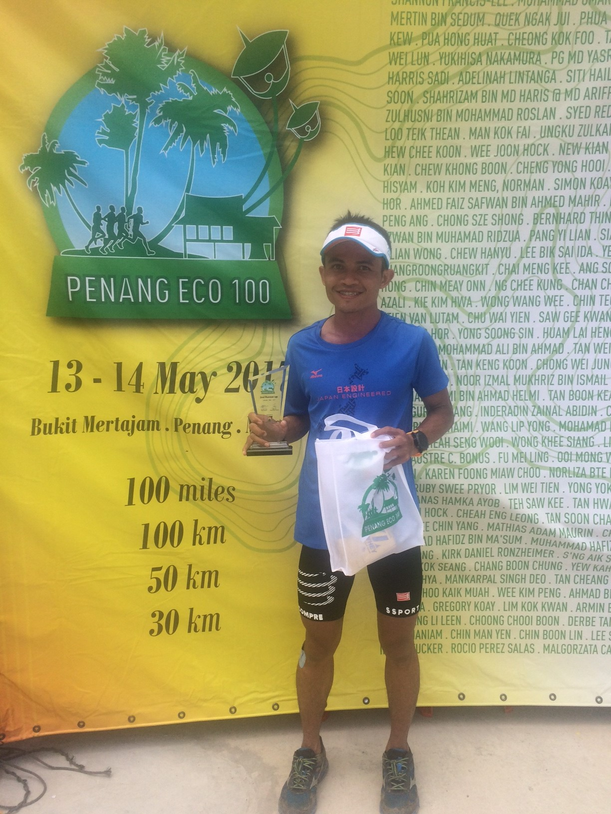Indonesia's Arief Wismoyono retains his lead in the 2017 ATM Championship ranking with 3rd place in Penang Eco 100 miles