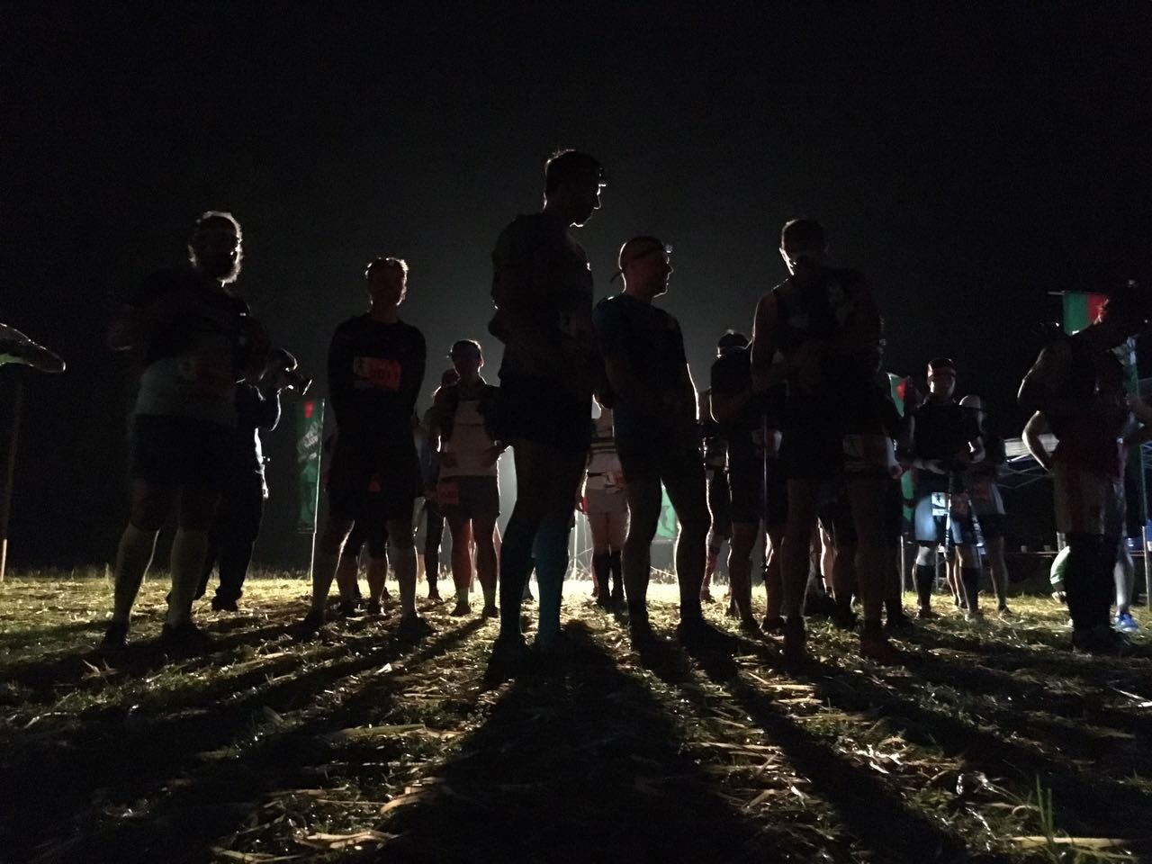 The 70k race started at night time