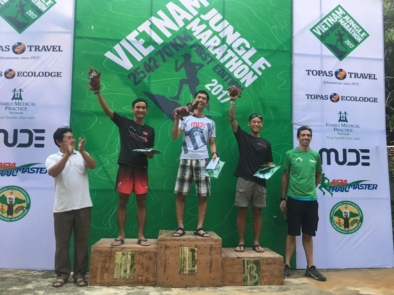 The men's podium last Saturday