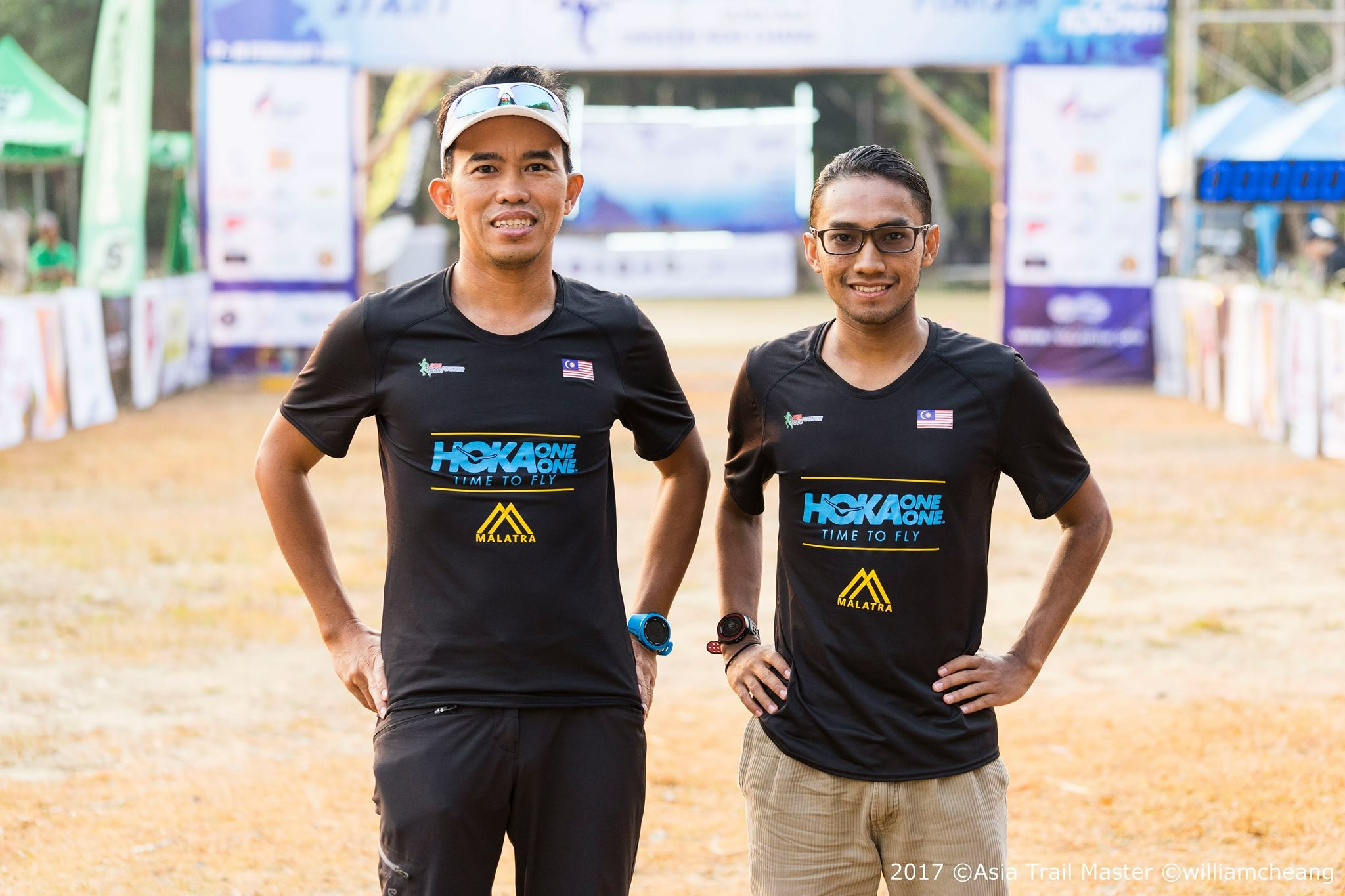 Huzairi Shah (right) with his coach at Team Malatra,  Razif Yahya